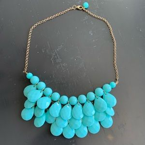 Turquoise color glass Stone necklace